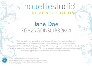 silhouette studio designer edition license key